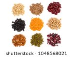 collection set of various dried ... | Shutterstock . vector #1048568021