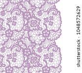 seamless lace border. vector... | Shutterstock .eps vector #1048572629