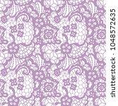 gentle lace seamless pattern... | Shutterstock .eps vector #1048572635