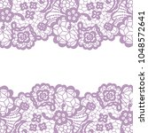 seamless lace border. vector... | Shutterstock .eps vector #1048572641