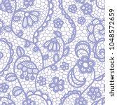 gentle lace seamless pattern... | Shutterstock .eps vector #1048572659