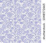 gentle lace seamless pattern... | Shutterstock .eps vector #1048572665