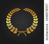 vector gold laurel wreath.   Shutterstock .eps vector #1048578557