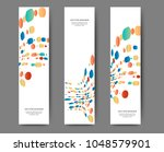 set of abstract web banner... | Shutterstock .eps vector #1048579901