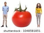 lovely fruit couple | Shutterstock . vector #1048581851