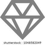diamond icon vector. simple... | Shutterstock .eps vector #1048582049