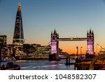 tower bridge in london at sunset | Shutterstock . vector #1048582307