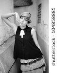beautiful girl with modern... | Shutterstock . vector #104858885