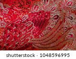 traditional chinese red fabric... | Shutterstock . vector #1048596995