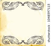 retro baroque decorations... | Shutterstock .eps vector #1048597115