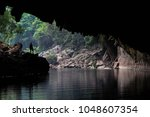 tham kong lo cave in laos | Shutterstock . vector #1048607354