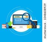keywording  seo keywording... | Shutterstock .eps vector #1048608929