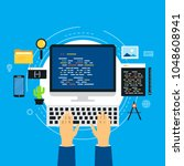 coding  programming  website... | Shutterstock .eps vector #1048608941