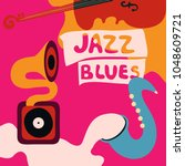 jazz music festival colorful... | Shutterstock .eps vector #1048609721