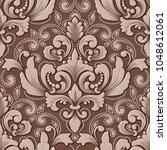 vector volumetric damask... | Shutterstock .eps vector #1048612061