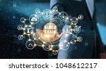 blockchain technology concept....   Shutterstock . vector #1048612217