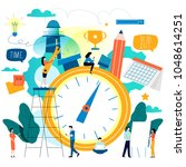 time management  planning...   Shutterstock .eps vector #1048614251
