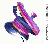 3d render  abstract twisted... | Shutterstock . vector #1048614521