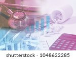 success of business in medical... | Shutterstock . vector #1048622285