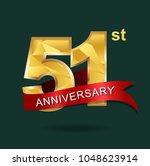 51st anniversary years... | Shutterstock .eps vector #1048623914