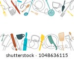 cooking background. pattern... | Shutterstock .eps vector #1048636115