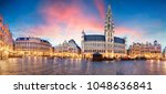 brussels   panorama of grand... | Shutterstock . vector #1048636841
