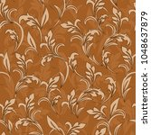 seamless damask pattern.... | Shutterstock .eps vector #1048637879