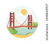 welcome to san francisco.... | Shutterstock .eps vector #1048643927
