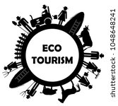 eco tourism icon with farm... | Shutterstock .eps vector #1048648241