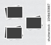 empty photo frames on... | Shutterstock .eps vector #1048650887