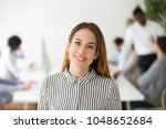 attractive woman business... | Shutterstock . vector #1048652684