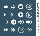 arrows flat vector icons set | Shutterstock .eps vector #1048654877