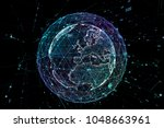 point  line  surface composed... | Shutterstock . vector #1048663961
