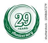 29 years anniversary.... | Shutterstock .eps vector #1048667279