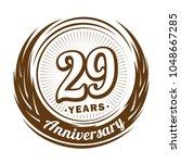 29 years anniversary.... | Shutterstock .eps vector #1048667285