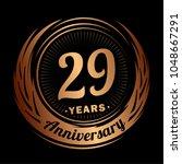 29 years anniversary.... | Shutterstock .eps vector #1048667291