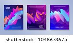 set of cover design with... | Shutterstock .eps vector #1048673675