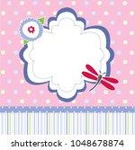 baby shower invitation | Shutterstock .eps vector #1048678874