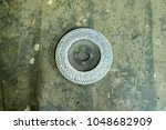 Small photo of Used and old abrasion disk.
