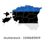 map and flag of estonia | Shutterstock .eps vector #1048685849