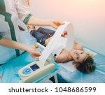 doctor with electrocardiogram...   Shutterstock . vector #1048686599