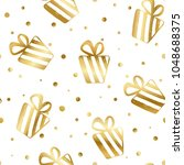 seamless pattern with gold... | Shutterstock .eps vector #1048688375