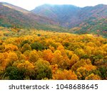 distant view of fall colors...   Shutterstock . vector #1048688645