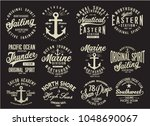 vintage nautical graphics and... | Shutterstock .eps vector #1048690067