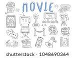 vector set of doodle icons... | Shutterstock .eps vector #1048690364