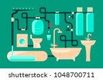 modern eco technologies in the...   Shutterstock .eps vector #1048700711
