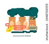 modern eco technologies in the...   Shutterstock .eps vector #1048703555