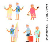 healthy active lifestyle...   Shutterstock .eps vector #1048704995