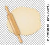 vector realistic 3d wooden... | Shutterstock .eps vector #1048705967