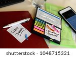 insurance claim notebook and to ... | Shutterstock . vector #1048715321